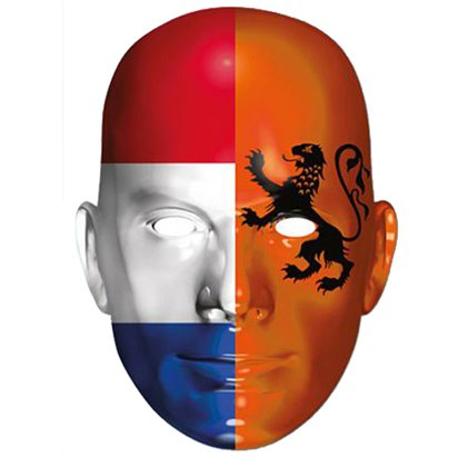 Holland Flag Mask - Flag Face Mask front