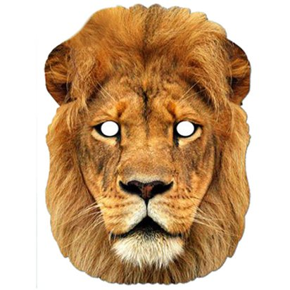 Narnia Lion Animal Cardboard Mask - World Book Day Fancy Dress Accessories front