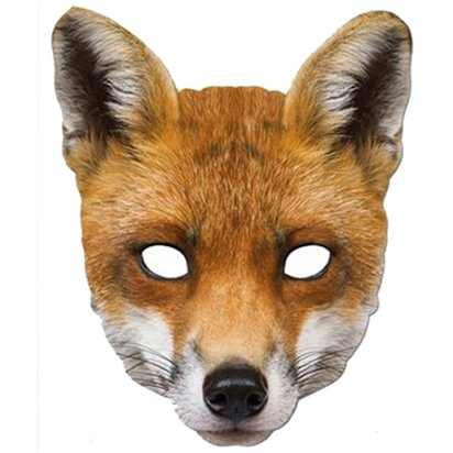 Fox Animal Mask - Fantastic Mr. Fox Mask - World Book Day Fancy Dress Costume Accessories front
