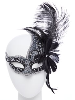 Dark Angel Black Masquerade Mask