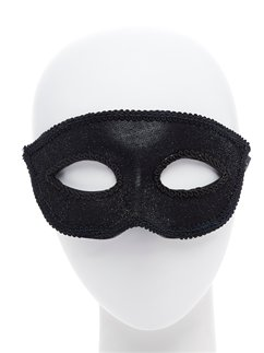 Black Masquerade Mask with Ribbon