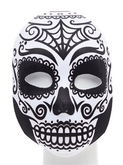 Day of the Dead Skull Masquerade Mask