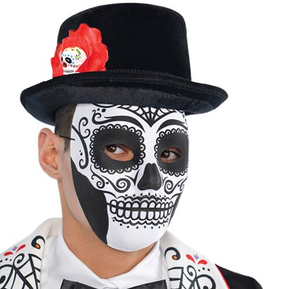 Day of the Dead  Skull Masquerade Mask for Men - Venetian Mask - Halloween Mask left