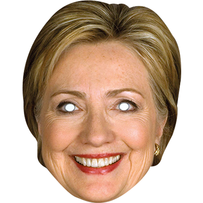 Hilary Clinton- Celebrity Mask front