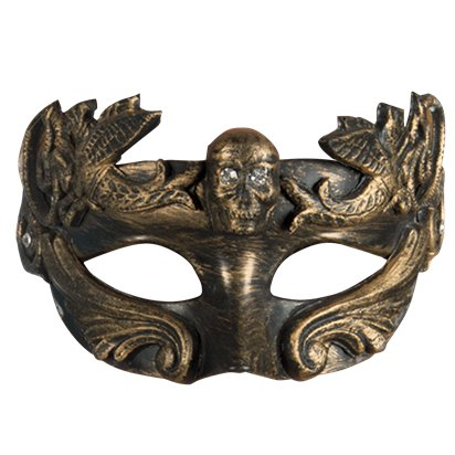 Venice Gold Masquerade Mask for Women - Steampunk Accessories front