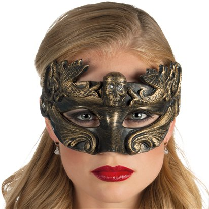 Venice Gold Masquerade Mask for Women - Steampunk Accessories left