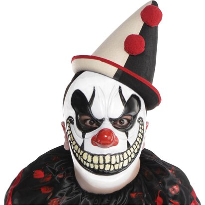 Freakshow Clown Mask - Adult Halloween Mask front