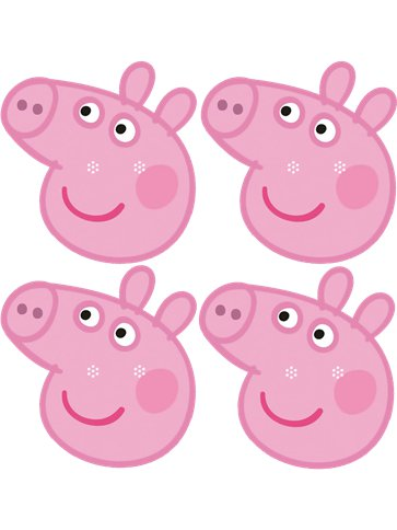 Peppa Pig Fun Face Masks front
