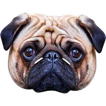 Pug Mask - Animal Masks front