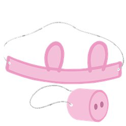 Peppa Pig Make Your Own Ears Headband & Snout Masks