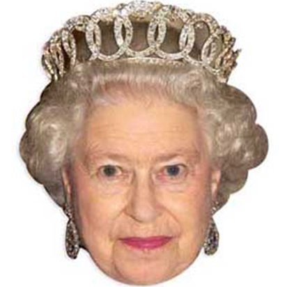 Queen Elizabeth Mask - Celebrity Mask front