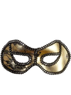 Gold & Black Sequin Masquerade Mask