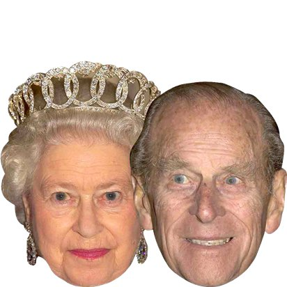 Royal Couples - Pack of 6 - Celebrity Masks - Royal Wedding Street Party  right