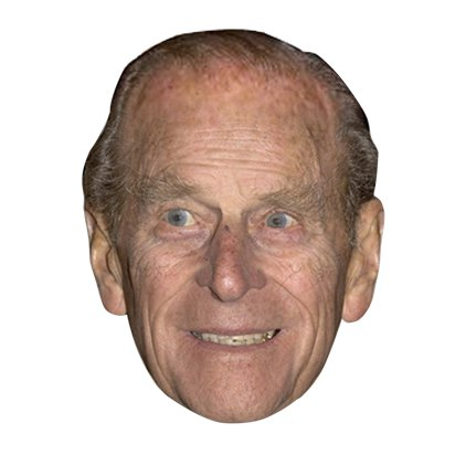 Duke of Edinburgh Mask - Royal Family Celebrity Masks  front
