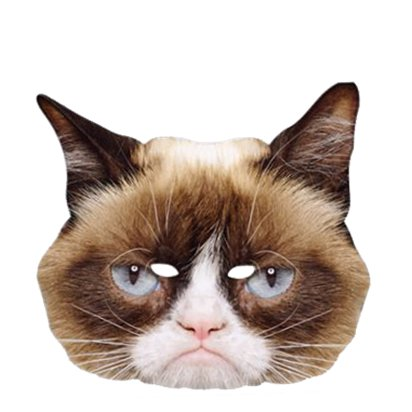 Grumpy Cat Mask - Animal Mask front