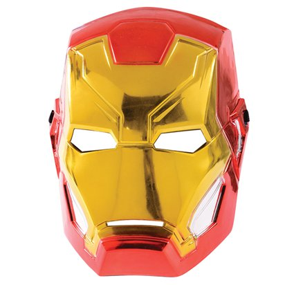 Iron Man Metallic Mask - Kids Avengers Superhero Mask front