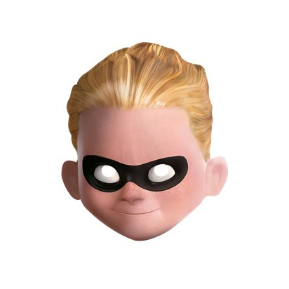 Dash Mask - Disney Incredibles Cardboard Mask front