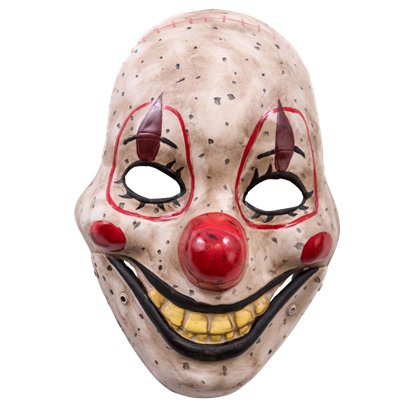 Clown Mask with Moving Jaw - Halloween Masks front
