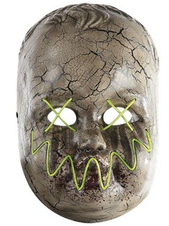 Creepy Baby Doll Light Up Mask