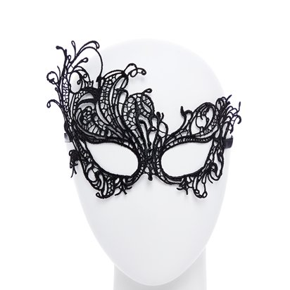 Black Lace Masquerade Mask for Women - Venetian Masks front