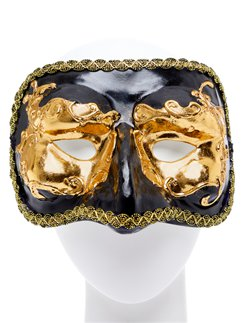 Black & Gold Masquerade Mask