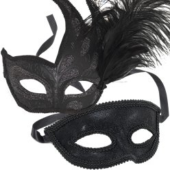Black Masquerade Masks for Couples