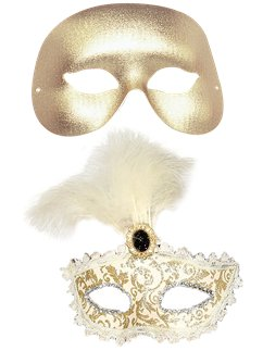 Gold Masquerade Masks for Couples