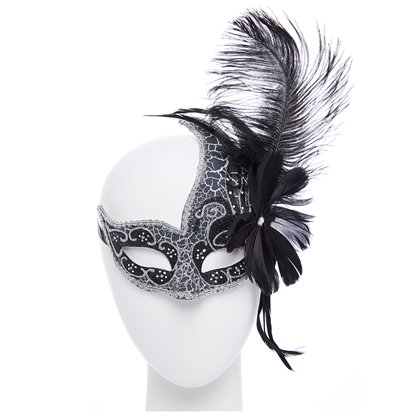 Silver Masquerade Masks for Couples - Masquerade Masks  left