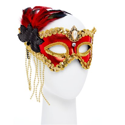 Red/Gold Masquerade Masks for Couples - His and Hers Masquerade Masks - Venetian Masks back