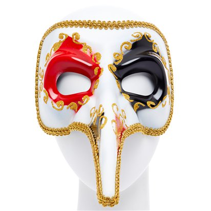 Red/Gold Masquerade Masks for Couples - His and Hers Masquerade Masks - Venetian Masks right