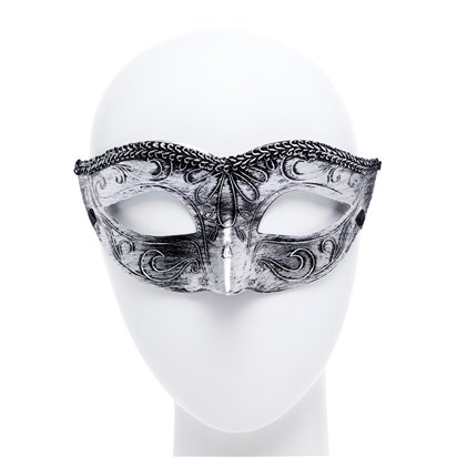 Black/Silver Masquerade Masks for Couples - His and Hers Masquerade Masks right
