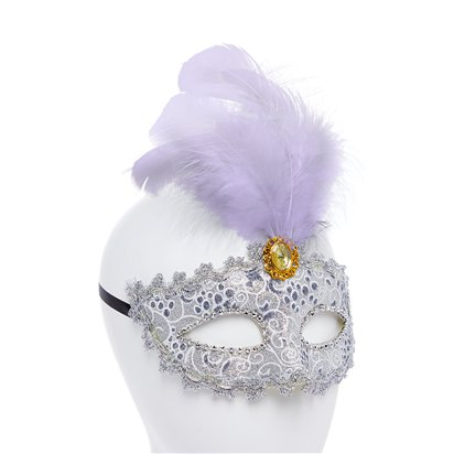 Silver Masquerade Masks for Couples - His and Hers Masquerade Masks back
