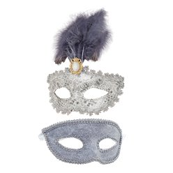 Silver Masquerade Masks for Couples