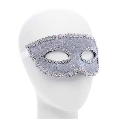 Silver Masquerade Masks for Couples - His and Hers Masquerade Masks side