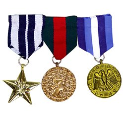 Military Medals - 3 pieces