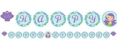 Mermaid Friends Ribbon Letter Banner - 2.4m