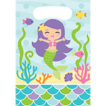 Mermaid Friends Party Bags - Plastic Loot Bags