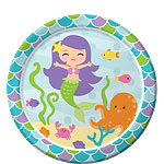 Mermaid Friends Plates - 23cm Paper Party Plates