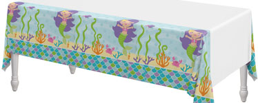 Mermaid Friends Plastic Tablecover - 1.4m x 2.6m