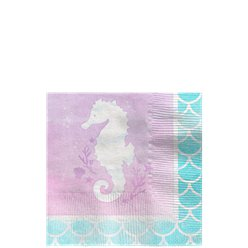 Mermaid Shine Paper Beverage Napkins - 25cm
