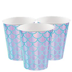 Mermaid Shine Paper Party Cups - 256ml