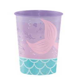 Mermaid Shine Plastic Favour Cup - 473ml