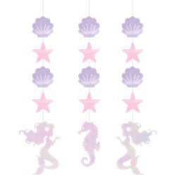 Mermaid Shine Iridescent Hanging Cutouts - 57cm