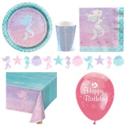 Mermaid Shine Party Pack - Deluxe Pack For 8