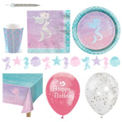 Mermaid Shine Party Pack - Deluxe Pack For 16