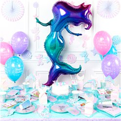 Mermaid Shine Deluxe Party Kit - For 8