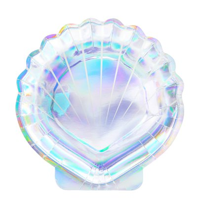 Iridescent Sea Shell Shaped Plates - 18.5cm