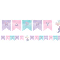 Mermaid Shine Iridescent Happy Birthday Bunting - 1.6m