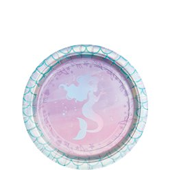 Mermaid Shine Dessert Plates - 18cm Paper Party Plates