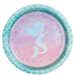 Mermaid Shine Plates - 23cm Paper Party Plates